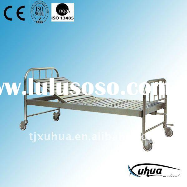 Stainless steel single crank hospital bed