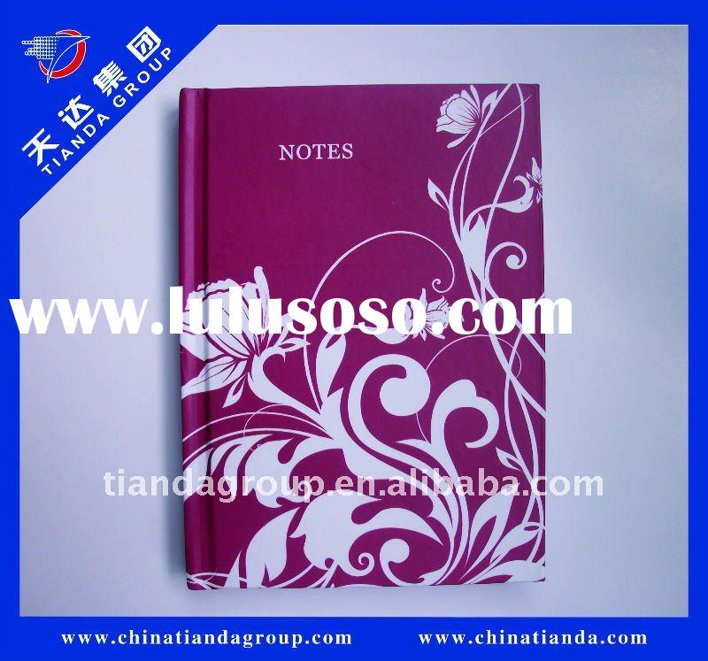 The  newest  elegant hardcover notebook with  ribbon