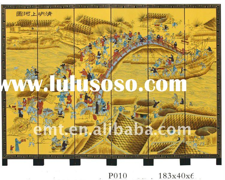 Wood Screen with Chinese Famous Painting(EMT-P010)