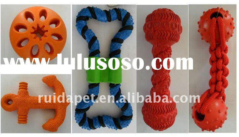 high-quality rubber dog toy