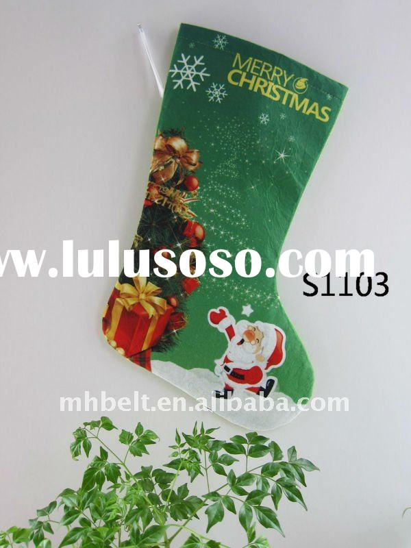 novely father christmas stocking and big red gift