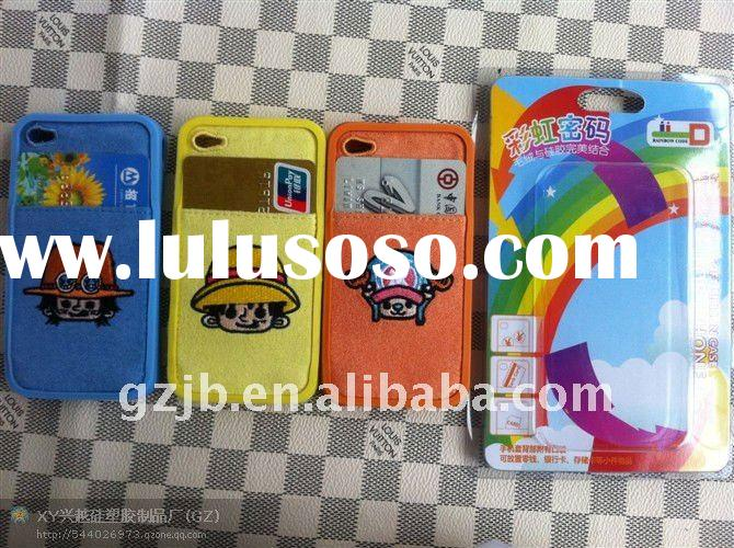 plush+silicon cover for ip 4g with good packing