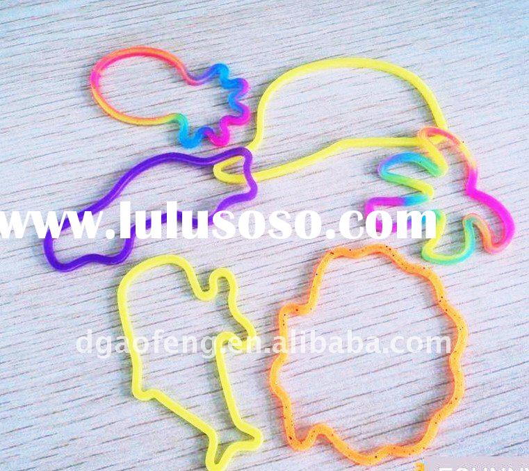 100% pure silicon rubber band for hair tieing