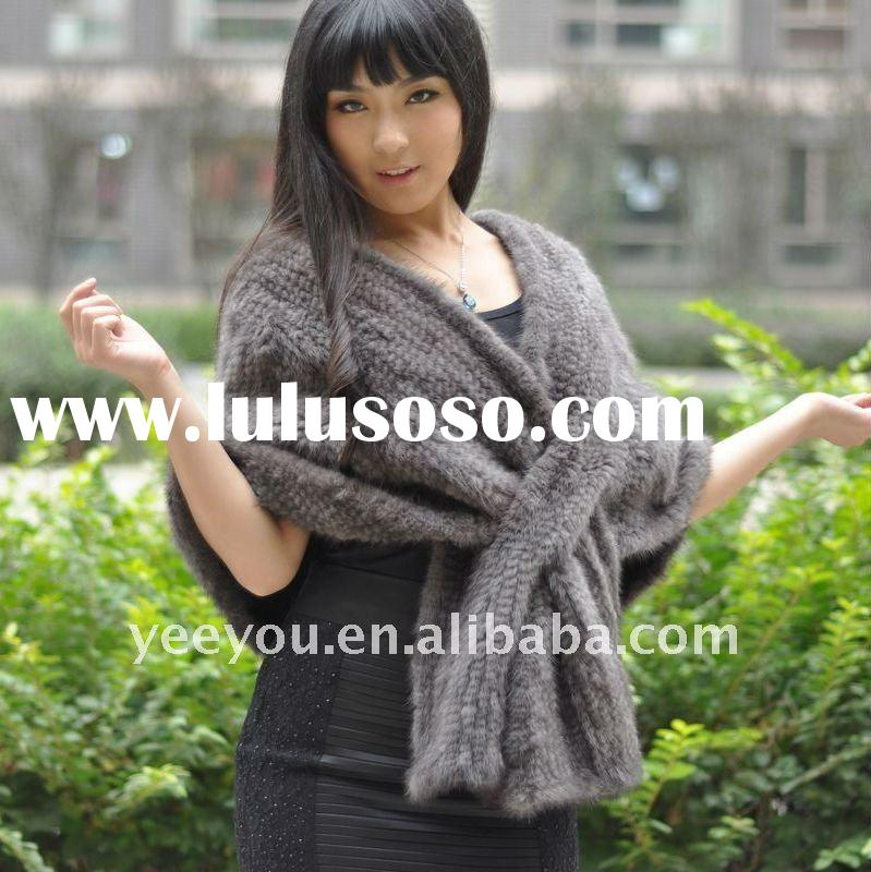 2011 DOUBLE WEAR  lady/women  gray mink fur cape