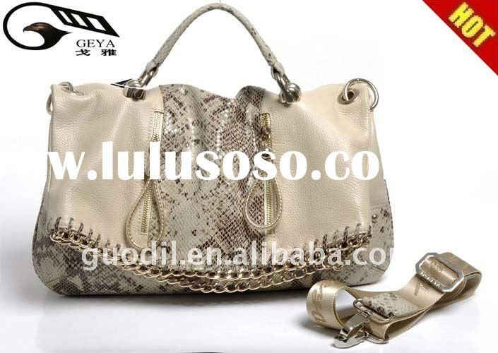 Brand Name designer for Ladies genuine leather handbags in hot selling and good price of 2012 Purse