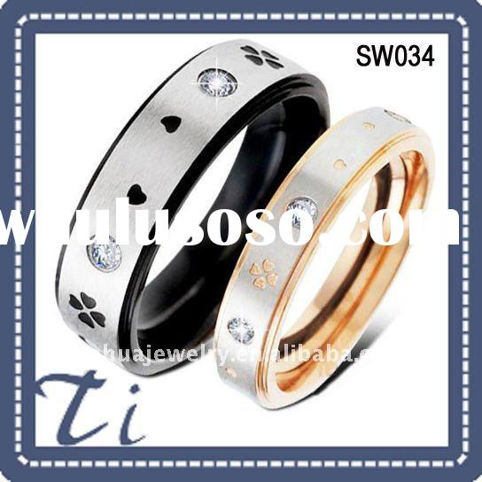 Fashion black and gold ring design wedding