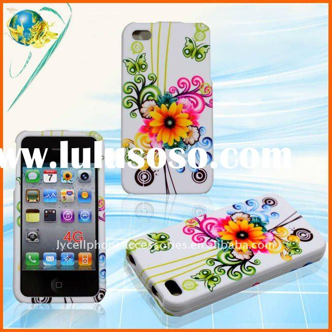 Flower hard design case for iphone 4G (LY-D14)