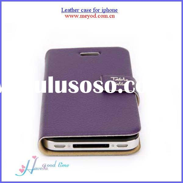 Low price and fashion  leather case for Iphone 4