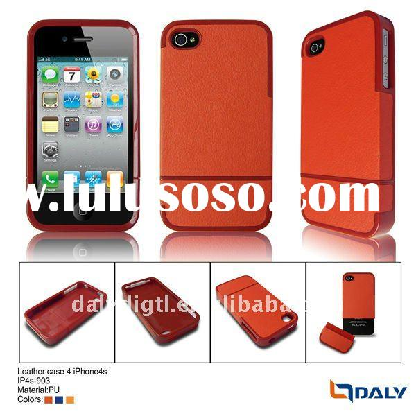 New arrival! detachable pu leather case for i phone4gs