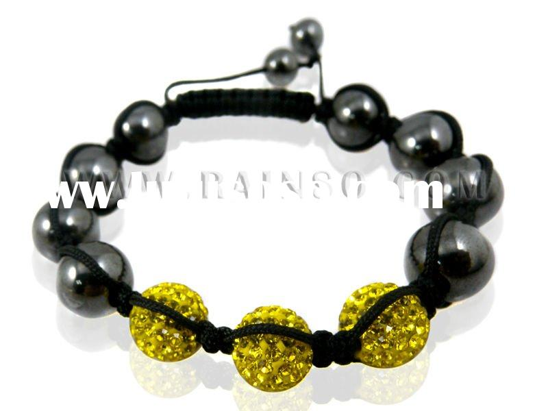 Semiprecious Beads Shamballa Bracelet Wholesale
