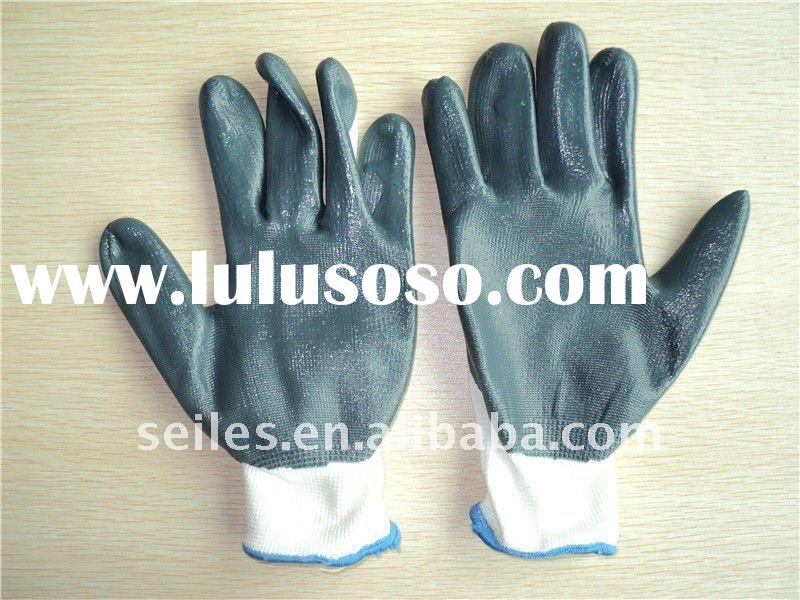 hot selling nitrile coated safety working gloves