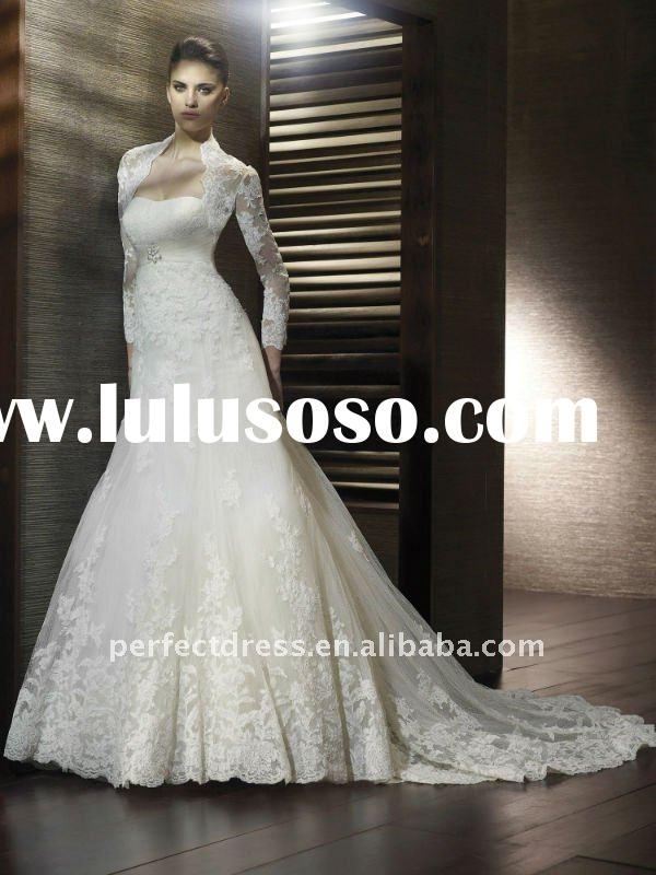 new fashion long sleeve lace wedding dresses NSW2040