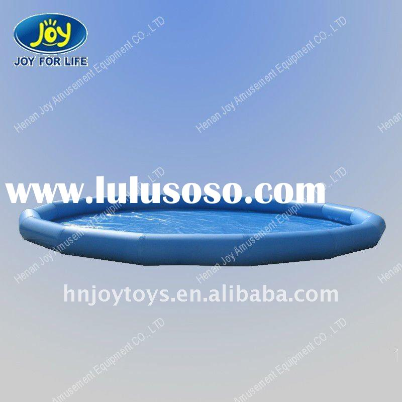 2012 new fashionable blue inflatable swimming pool