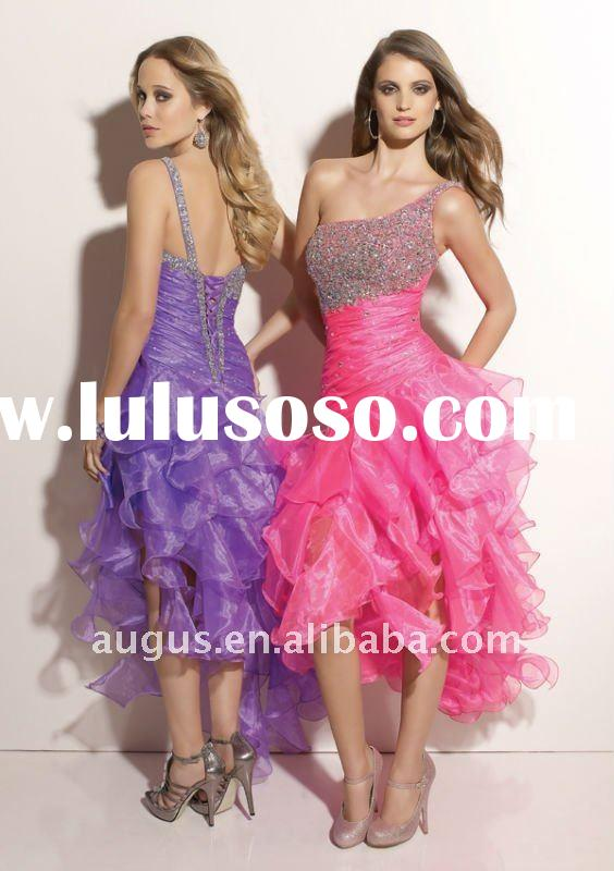 AH-024 2012 Hot sale!One Shoulder Scattered Homecoming Dresses Party Gowns