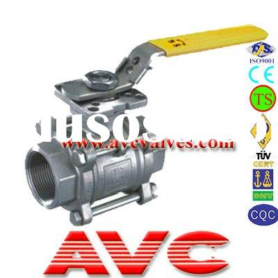 AVC 3PC NPT ISO Mounting Ball Valve