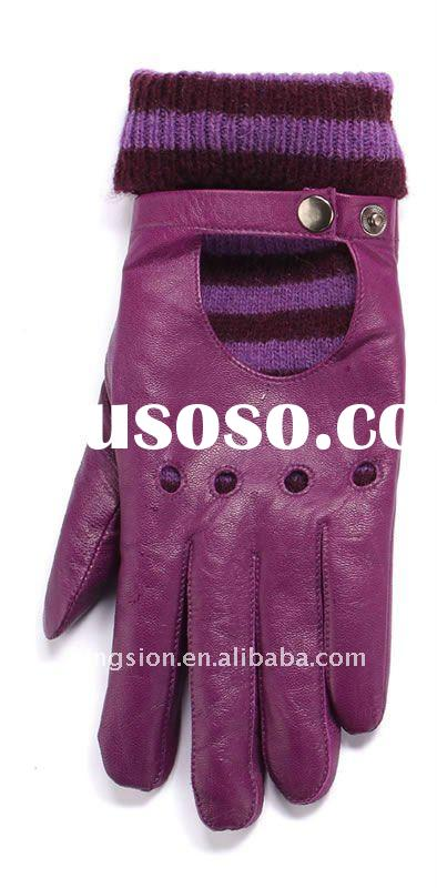 Fashion Leather Glove for ladies