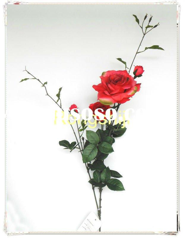 Singapo red rose Artificial Silk Flower