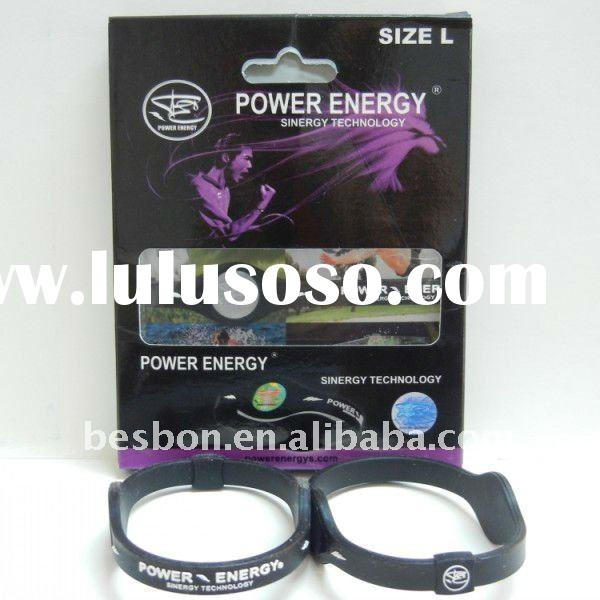 customized negative ion silicone power energy bracelet