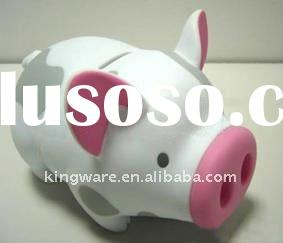 funny plastic pigs coin bank
