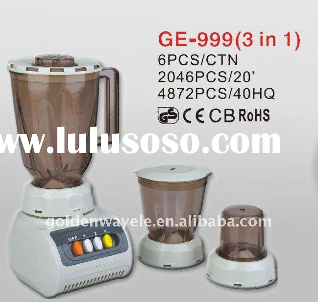 3 in 1 multifunctional fruit blender with plastic or glass jar GE-999