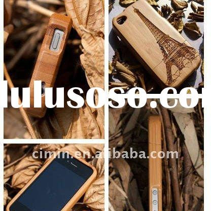 Bamboo wood case for iphone 4