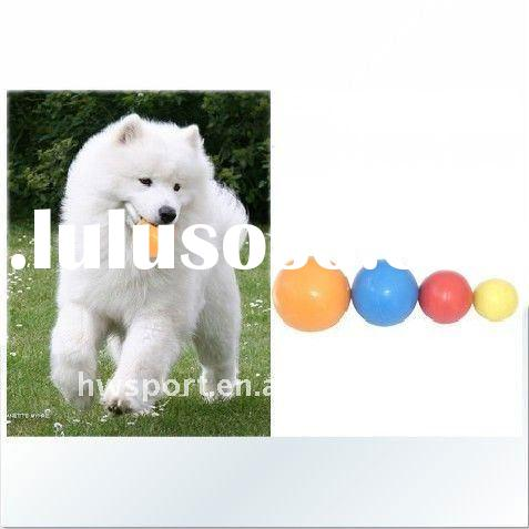 colorful bouncing rubber ball for pets
