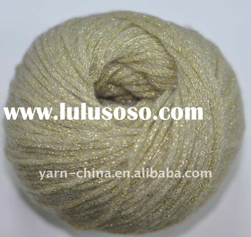 metallic hand knitting yarn