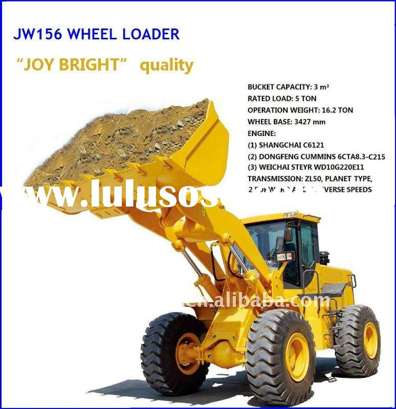 JW156 front end wheeled loader,4WD,loading 5000kgs,CUMMINS ENGINE 215hp,CE prove
