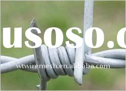 PVC coated barbed wire(Factory,ISO9001:2000)