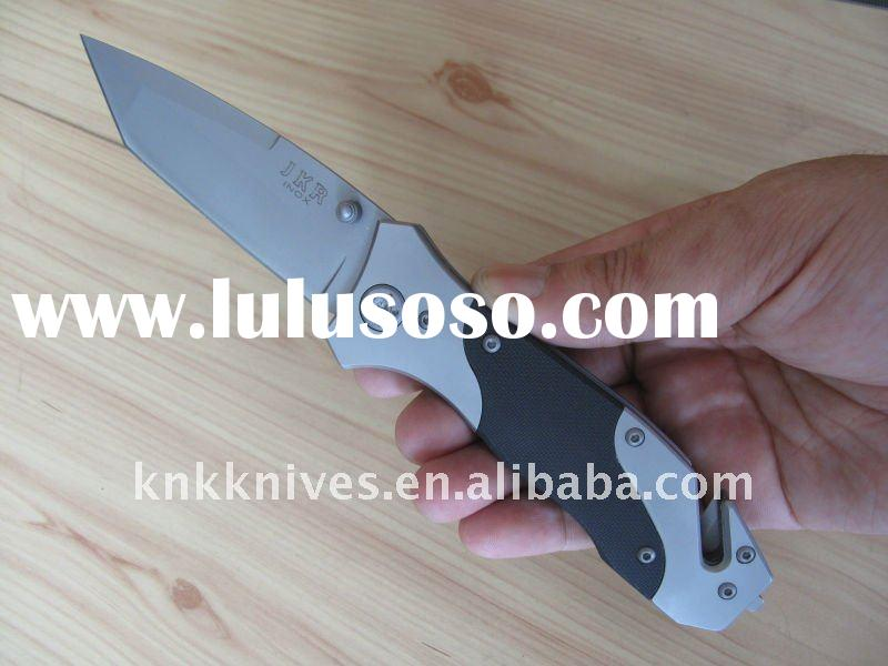 emergency rescue knife / tactical rescue folding knife / tactical rescue linerlock knife /military k