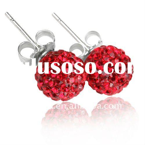 2011 Fashion Wholesale Silver Crystal Earrings