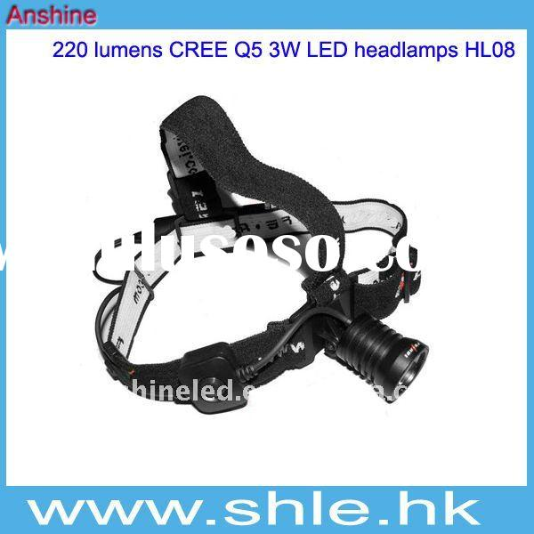 Fast Ship CREE Q5 3W LED headlamp 32mm head diameter