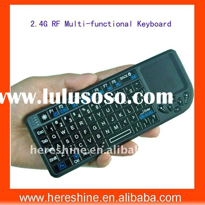 Hot Multimedia 2.4G RF Mini Wireless Keyboard with Multi-touchpad and Mouse