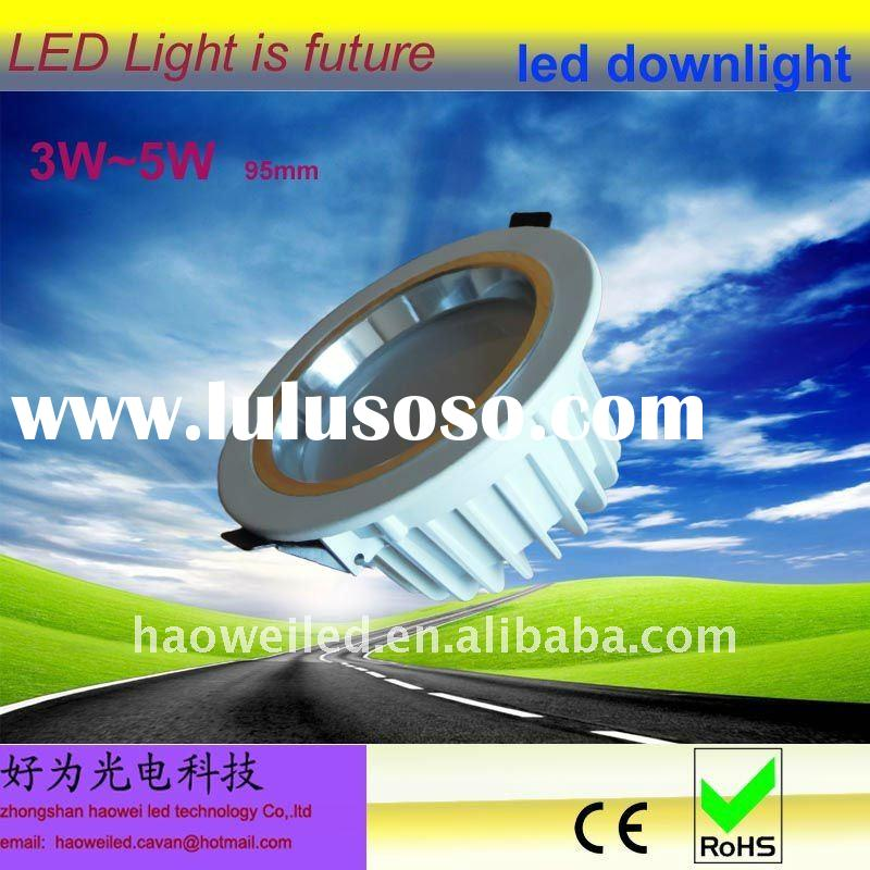 round shape lled downlight 3W ceiling light 3*1W