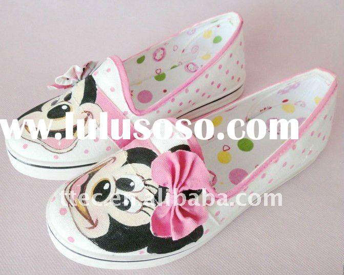 2011 new style hand painted canvas shoes for women