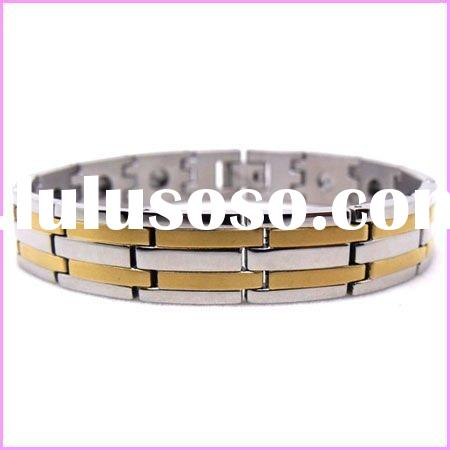 2012 fashion men's stainless steel magnetic bracelet
