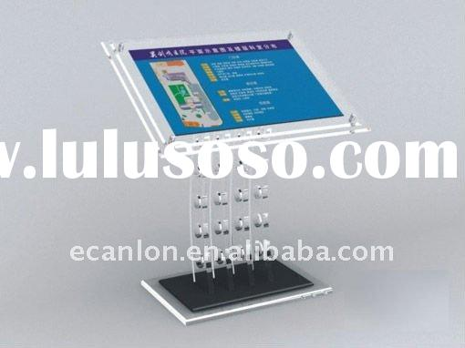 custom arylic advertising stand display