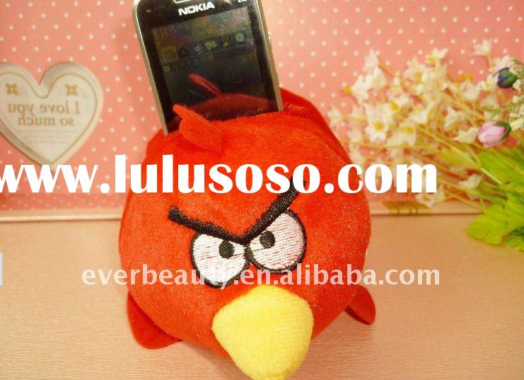 2011 Hot angry birds plush cell phone holder