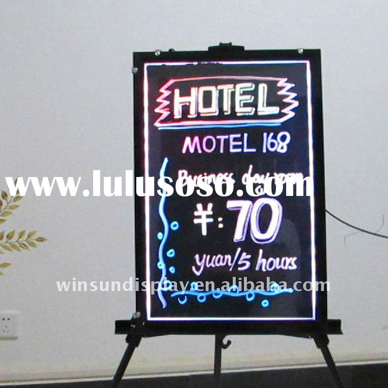 2011 high quality sparkle led writing board with neon effects