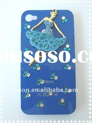 2012 crystal rhinestone cell phone cases for Iphone4