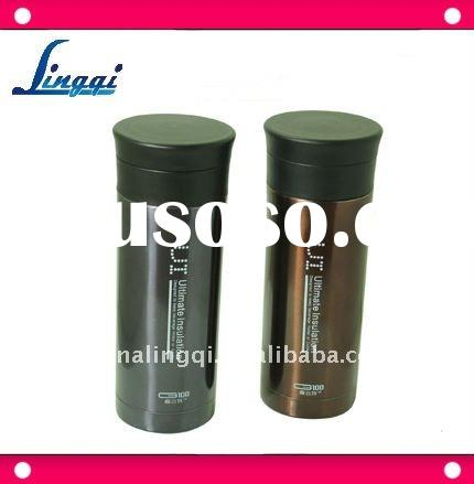 Hot sell stainless steel double deck vacuum flask, vacuum insulated bottle