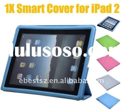 New Magnetic Smart Leather Cover w/ Hard Case for iPad 2