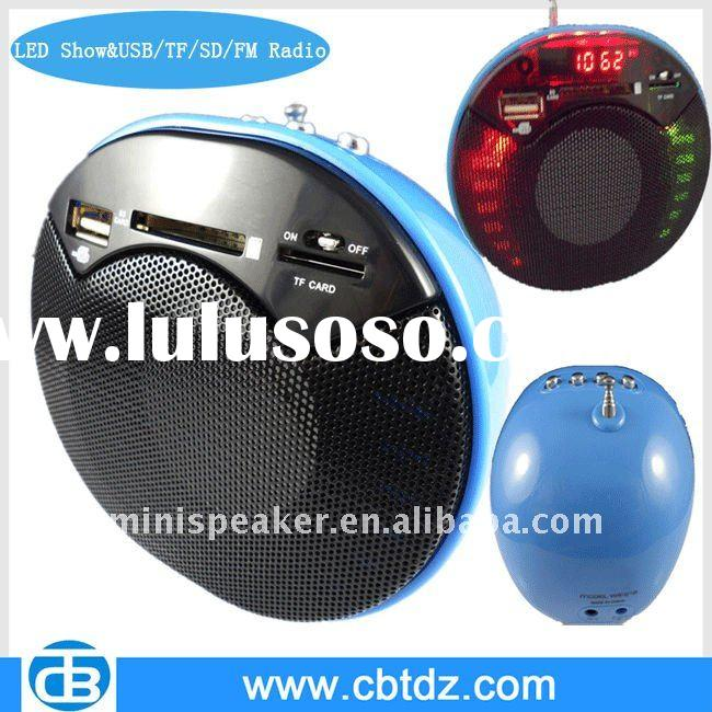 Popular Unique Design FM Mini HIFI Speaker with USB/SD/TF Card