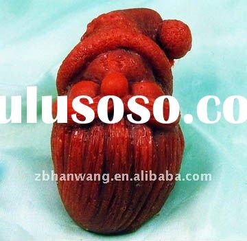 R0479 2011 new Santa Clause silicone rubber soap mould for Christmas home decoration