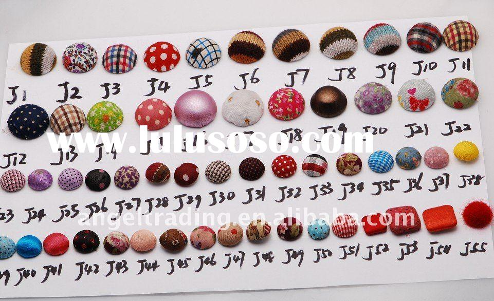 fashion fabric buttons jewelry fittings