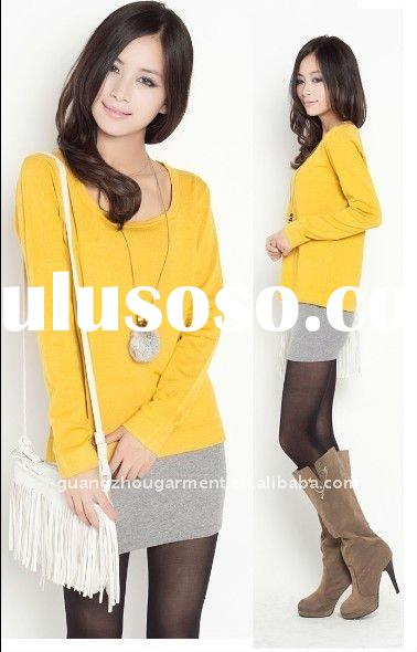fashion long sleeve under knitwear shirt 2011