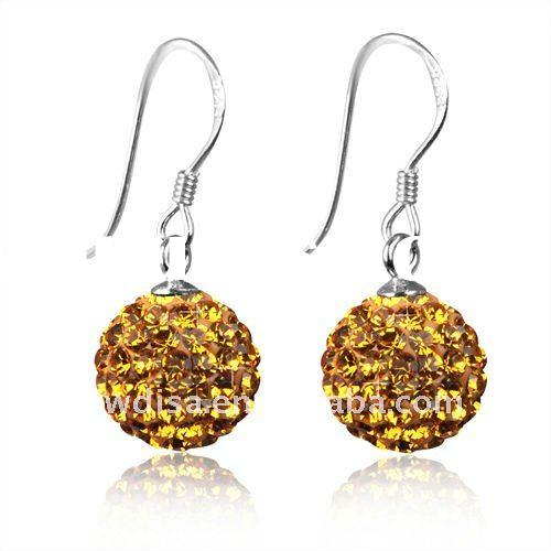 925 fashion silver earrings,crystal earring