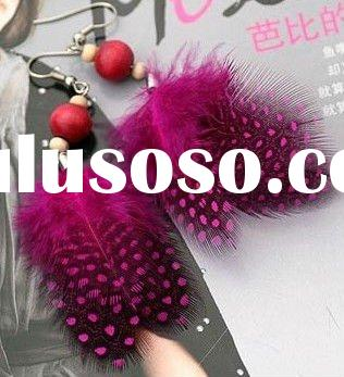 Colorful feather earrings selling jewelry wholesale factory prices earring