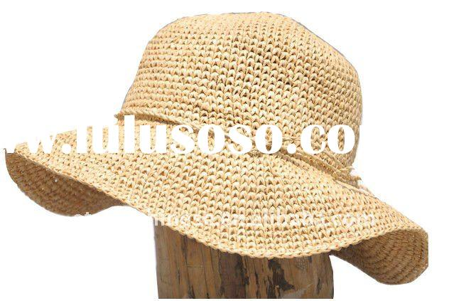 Fashion foldable sun straw hat