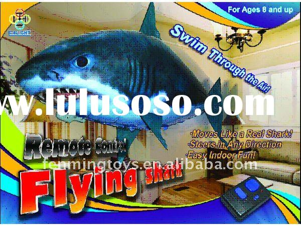 Free shipping in stock IR R/C inflatable Flying Clownfish Shark flying fish  flying toys